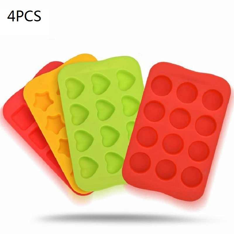 HOOMALL 12 GRIDS SILICONE ICE CUBE JELLY CHOCOLATE MOLD FRUIT DIY MOULD CAKE MOLD TRAY PUDDING ICE CUBE MAKER KITCHEN TOOLS