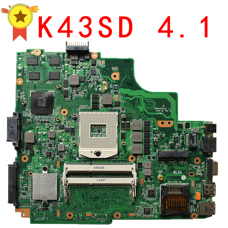 K43SD laptop mainboards motherboard for sale with low prices REV5 0 tested fully work