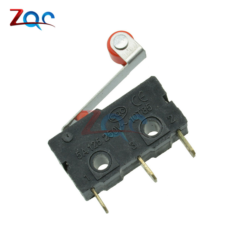 10Pcs KW12-3 Micro Roller Lever Arm Normally Open Close Limit Switch 10pcs limit switches 3 pin n o n c 5a 125v 250vac micro switch roller lever arm pcb terminals kw12 3