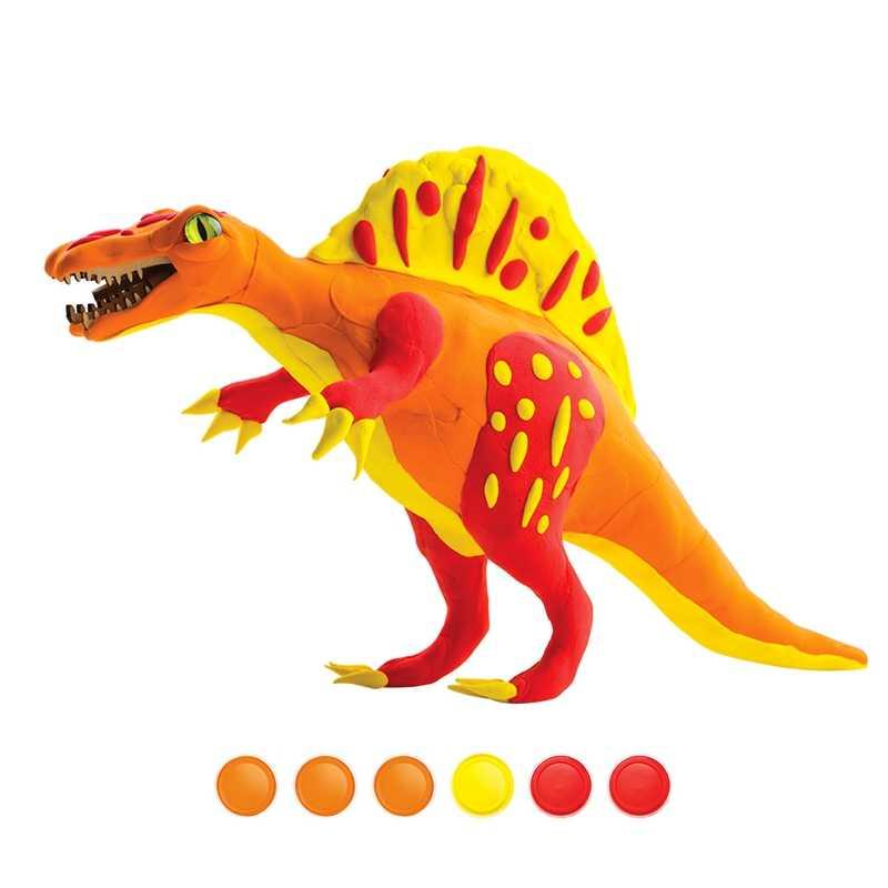 Robud DIY сборка динозавра модель действие и игрушка фигурка безопасная и Нетоксичная глина с 3D деревянные головоломки лучший подарок для детей FY02