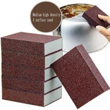 4 adet zımpara sünger sihirli silgi pas çıkarmak için temizlik pamuk zımpara sünger melamin sünger mutfak malzemeleri kireç çözücü temiz