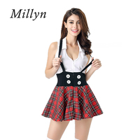 Millyn Sexy Campus Student Cosplay Uniforms Theme Parties Stage Costumes Without Stockings