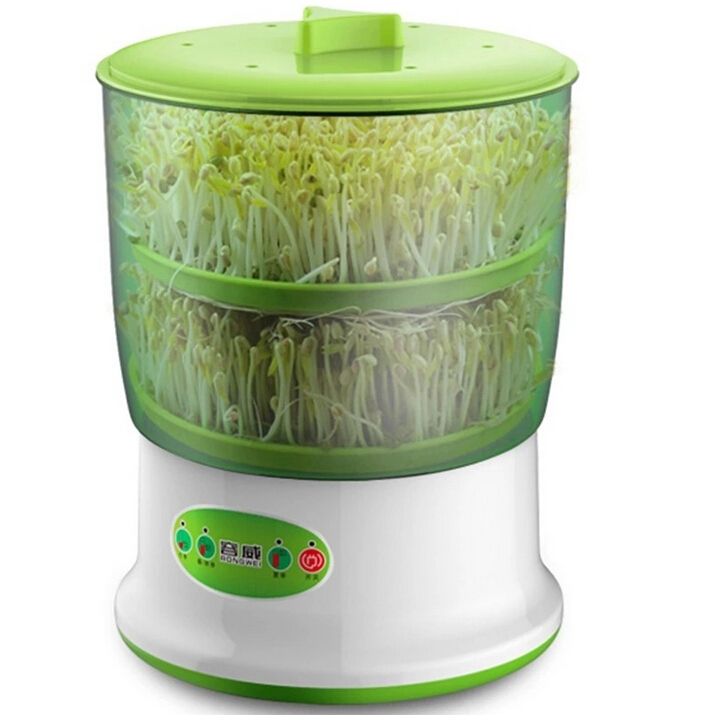 Hot Sale Home Intelligence Bean Sprouts Machine Upgrade Large Capacity Auto Thermostat Green Seed Grow Bean Sprout Machine HA122 bear three layers of bean sprouts machine intelligent bean sprout tooth machine dyj b03t1