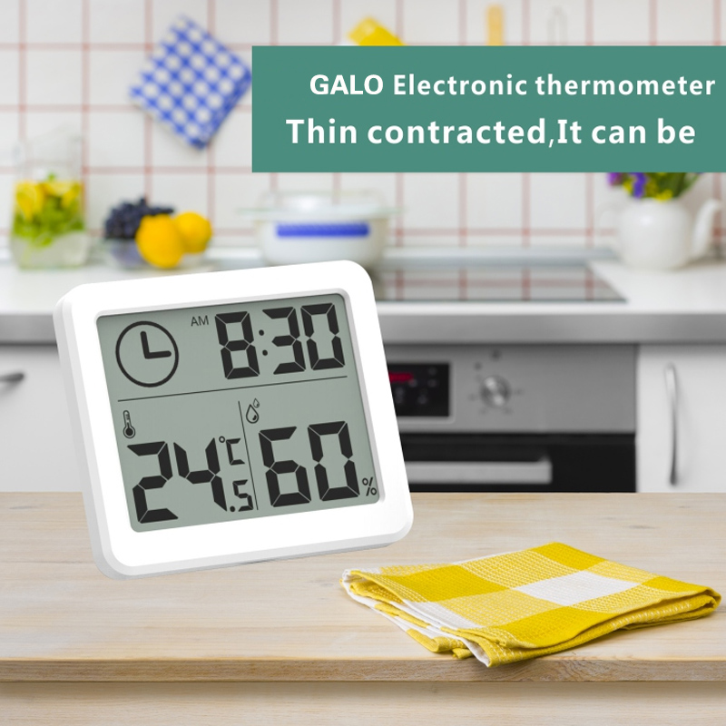GALO Ultra Thin And Simple LCD Digital Temperature Humidity Sensor/ Hygrothermograph