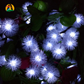 4.8M 20leds Solar Christmas Decoration Lamps LED String Lights Fur Snow Ball LED Lamp Outdoor New Year Garden Decoration Light