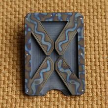 X Titanium Wallet Card Holder Multi-purpose EDC Equipment Mens