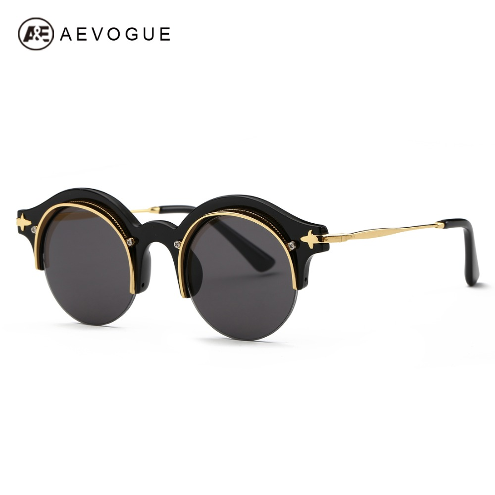 54151a959dfb5 AEVOGUE Sunglasses Women Newest Steampunk Original Brand Designer Copper  Frame Sun Glasses Classic Shades With Box UV400 AE0395-in Sunglasses from  Women s ...