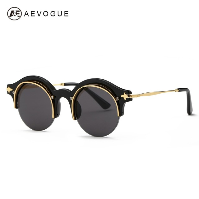 AEVOGUE Sunglasses Women Newest Steampunk Original Brand Designer Copper Frame Sun Glasses Classic Shades With Box UV400 AE0395