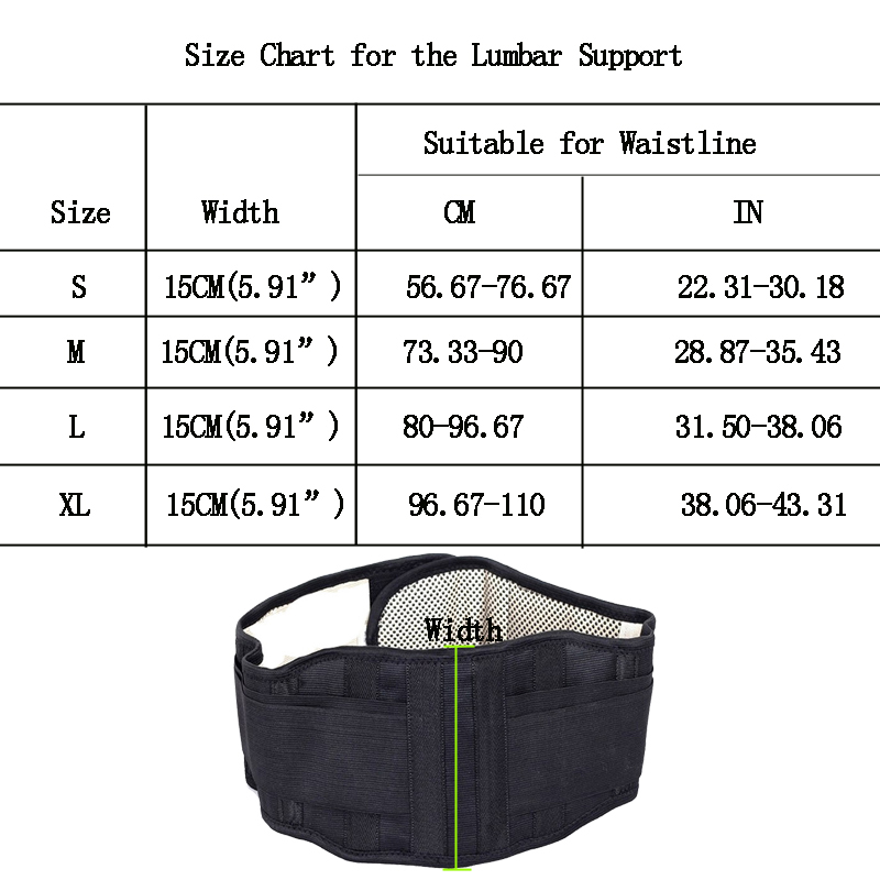 Tourmaline-Lumbar-Support-Brace-Breathable-Mesh-Four-Steels-Plate-Protection-Adjustable-Back-Waist-Support-Belt