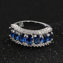 Blue Crystals Women Rings