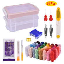 48 Color Sewing Thread and Quilting Tools Multifunctional Supplies Kit for Machine Hand Stitching Embroidery Threads Box