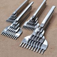 3 мм/4 мм/5 мм/6 мм кожаные инструменты для рукоделия дырокол инструмент для прошивки 1 + 2 + 4 + 6 зубец кожевенное ремесло ручные приборы Набор