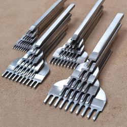 3mm/4mm/5mm/6mm ferramentas de artesanato de couro buraco perfuradores costura punch tool 1 + 2 + 4 6 pinos leathercraft ferramentas mão conjunto