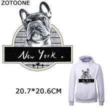 ZOTOONE Personality Puppy Patch Diy Iron on Transfer Patches New York Hot Heat Transfers Stickers for Clothes T-Shirts Appliques