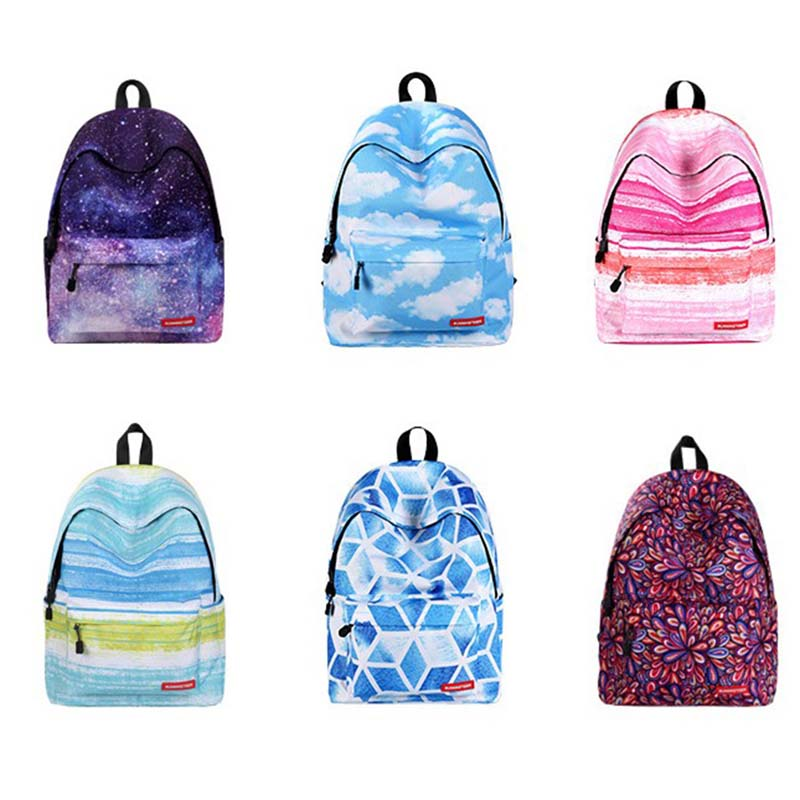 160ecf515d69 2018 new fashion 3d floral print backpack starry sky backpack boys girls  school bags flower plaid canvas travel bag shoulder bag-in Backpacks from  Luggage ...