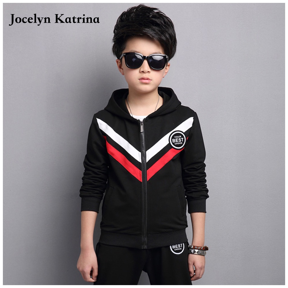 Kids Clothes Boys 2017 Baby Boys Autumn Hoodied Coats And Jackets Pants Set Fashion Children Clothing Sports Suit  недорого