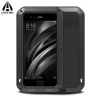 Aluminum Metal Full Body Protective Case For Xiaomi Mi 6 8 Mi6 Phone Shockproof Armor + Gorilla Glass Cover Xiaomi Mi8 Case Mi6