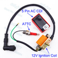 Racing Ignition Coil & A7TC Spark Plug & 5 Pin AC CDI For 50cc 70cc 90cc 110cc ATV Quad Pit Dirt Bike