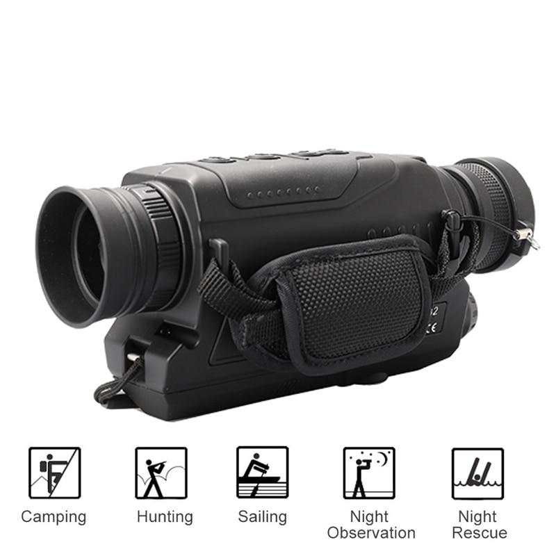 5X40 Vision nocturne numérique monoculaire infrarouge 940NM Vision nocturne portée de chasse avec 8G TF carte livraison gratuite - 4