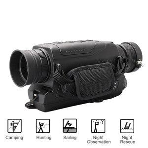 Image 4 - 5X40 الرقمية ناظور أحادي العين للرؤية الليلية الأشعة تحت الحمراء للرؤية الليلية نطاق الصيد مع 8G TF بطاقة شحن مجاني