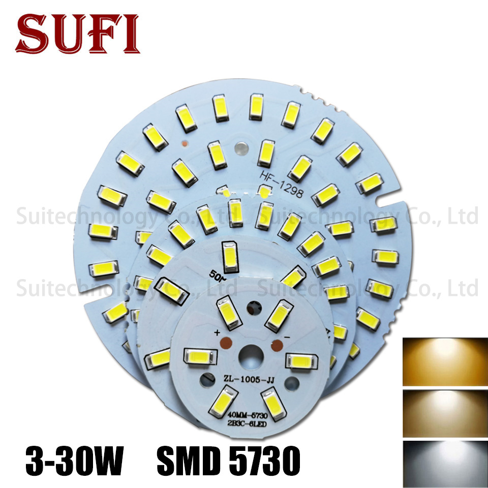 3W 5W 7W 9W 12W 15W 18W 21W 30W 36W LED Bulb Lamp SMD5730 Light Board Led Lamp Panel For DIY LED Bulb Ceiling PCB With LED