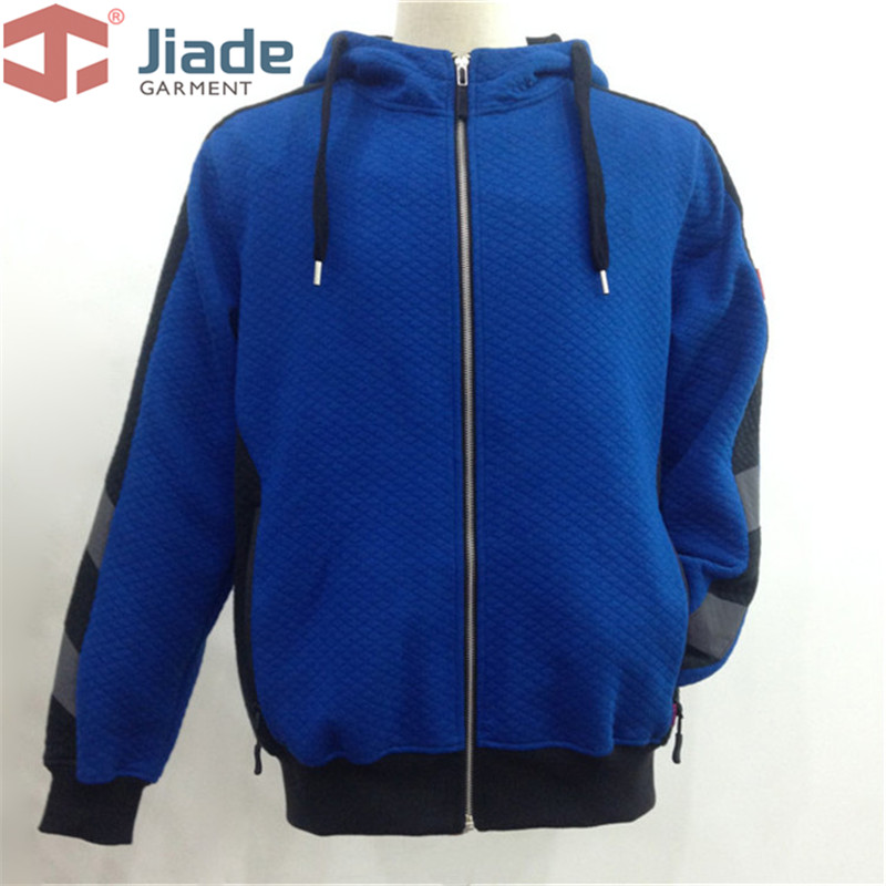 Jiade Adult High Visibility Hoodie Men's Work HoodieMen's Warm hoodie fluorescence yellow high visibility