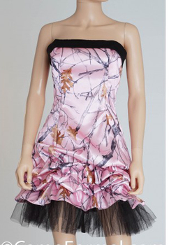 free shipping  short  pink camo prom  dresses  2017 new style custom make size 0 or plus sizes
