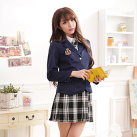Japanese Girls School Uniforms for JK Sailor Long Sleeve Shirt Preppy Style Chorus Sexy Skirt Female Coat Cosplay Costume