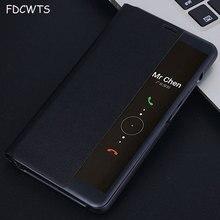 FDCWTS Flip כיסוי עור מקרה עבור Huawei Mate 10 פרו מקרה 6.0 עבור Huawei Mate 10 מקרה 5.9 תצוגה חכמה slim טלפון Case כיסוי