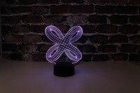 Бесплатная доставка  YJM-2870  3D абстракция Тип 3  3D LED оформленный Красочный ночник  стол или кровать лампа с сенсорным управлением