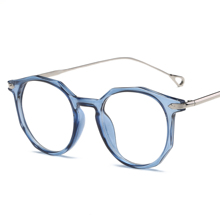 Brand Eyeglasses Frame Metal Round Prescription Glasses Frame With Clear Lens Myopia Optical Glasses Eyewear Frame For Women Men