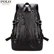 Vicuna polo berühmte marke männer laptop rucksack mit kopfhörer loch casual kühlen männer rucksack mode mochila masculina
