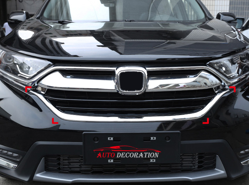 Discount Auto Center >> For Honda CRV CR V 2017 2018 ABS Chrome Car Styling Exterior Front Center Grill Grille Frame ...