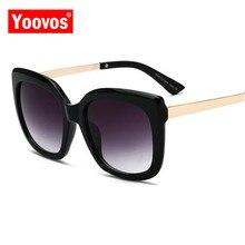 Yoovos 2019 Retro Luxury Brand Sunglasses Women/Men Metal Classic Eyeglasses for Women Fashion Shopping Gafas De Sol Mujer UV400