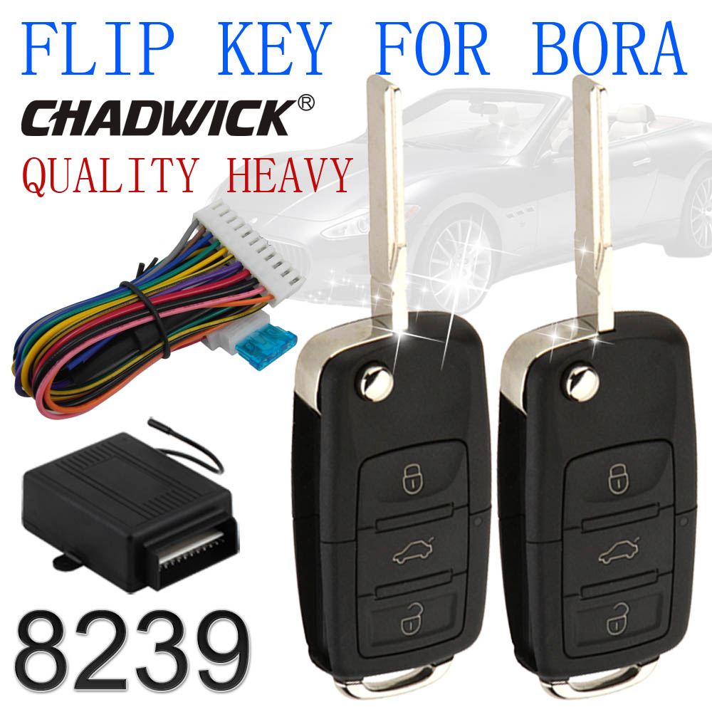 New Hot CHADWICK 8239 Flip Key Keyless Entry System For Bora Vw Volkswagen Remote Control Central Door Lock Locking High Quality