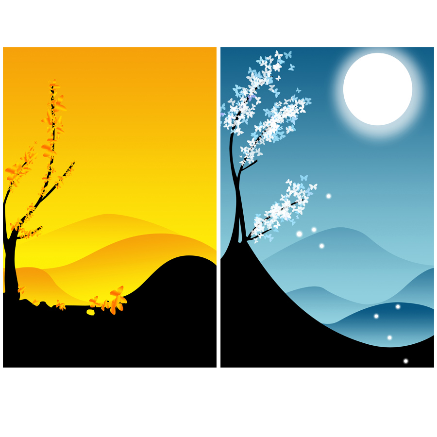 ShineHome 4pcs Wall Art Canvas Prints Chinese Style Four Seasons ...