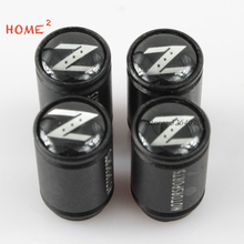 4pcs Car Styling Exterior Decor Accesories Tire Valve Cap Wheel Parts for Z logo Nissan 350-z 370z Sunny sentra leaf Murano
