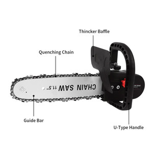 Image 3 - FNICEL 11.5 Inch M10/M14/M16 Chainsaw Bracket Changed Upgrade Electric Saw Parts 100 125 150 Angle Grinder Into Chain Saw