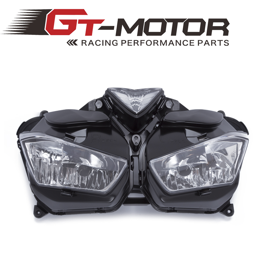 GT Motor - Hot Sales Motorcycle Headlight HID LED Frontlight For Yamaha R25 R3 2014-2016 Front Head Lamp Lighting Parts motorcycle parts copper based sintered motor front