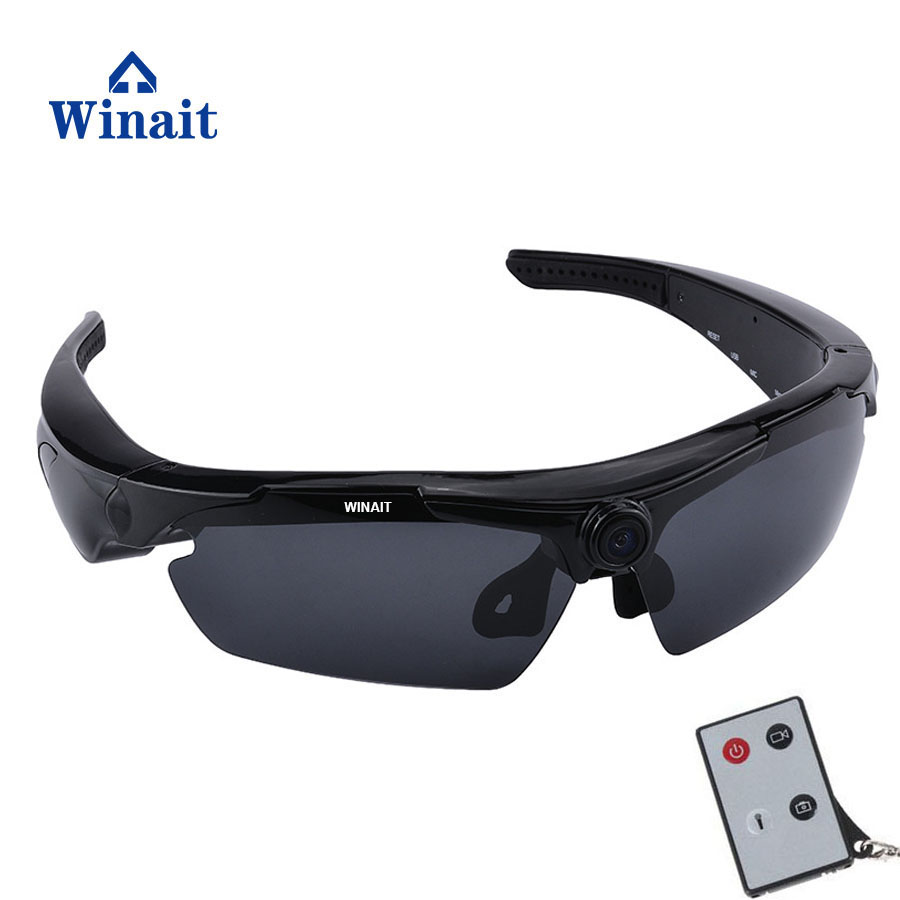 Winait camera sunglasses with 170 degree wide angle digital video camera free shipping