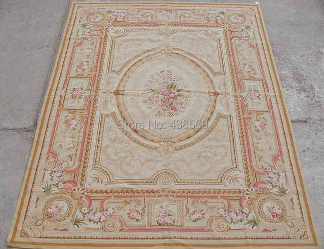 Free Shipping 10k 9 X12 Needlepoint Rug French Aubusson Design 100
