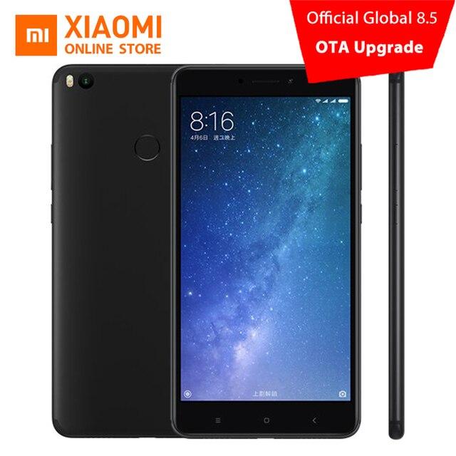 """Оригинал Сяо Mi Max 2 4 ГБ 64 ГБ мобильный телефон 6.44 """"1080 P Snapdragon 625 Octa core 12MP 5300 мАч QC 3.0 9 В 2A Andriod 7.1 OTA"""
