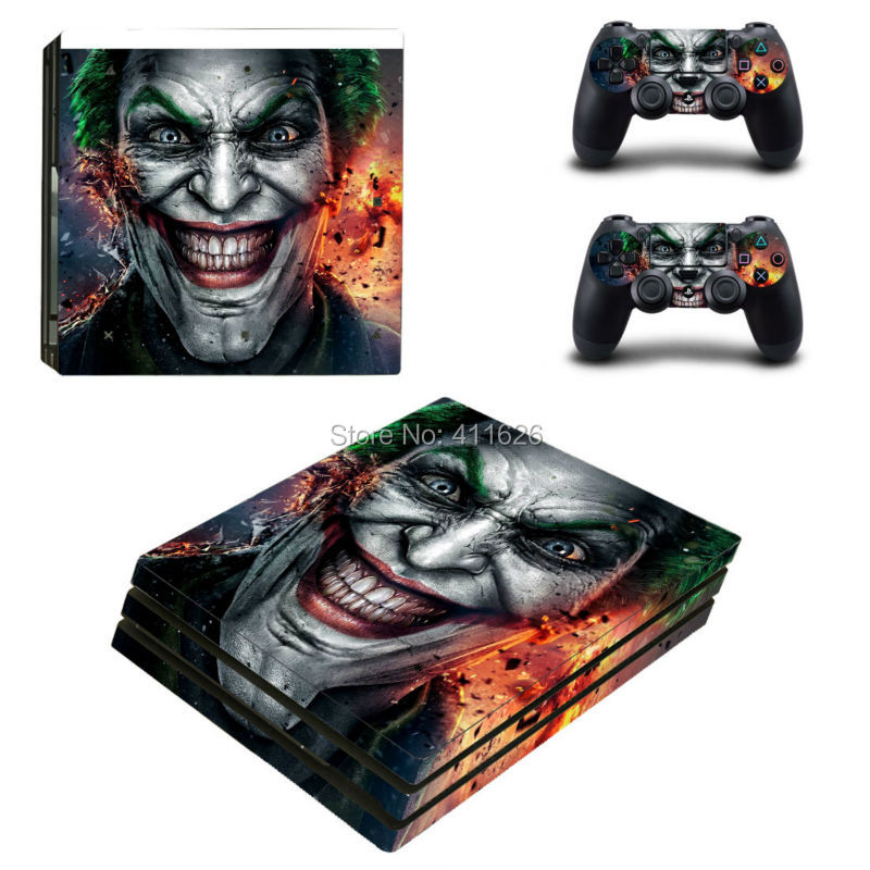 Joker Batman Vinyl protective Skin Sticker for sony playstation 4 Pro for PS4 Pro sticker China manufacturer