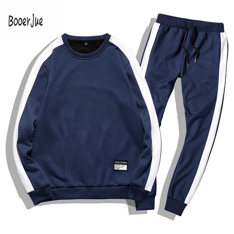 Men Tracksuits 2PC Outwear Sportsuit Sets Male Sweatshirts Cardigan Men Set Clothing+Pants Plus Size Moleton Masculino 2019