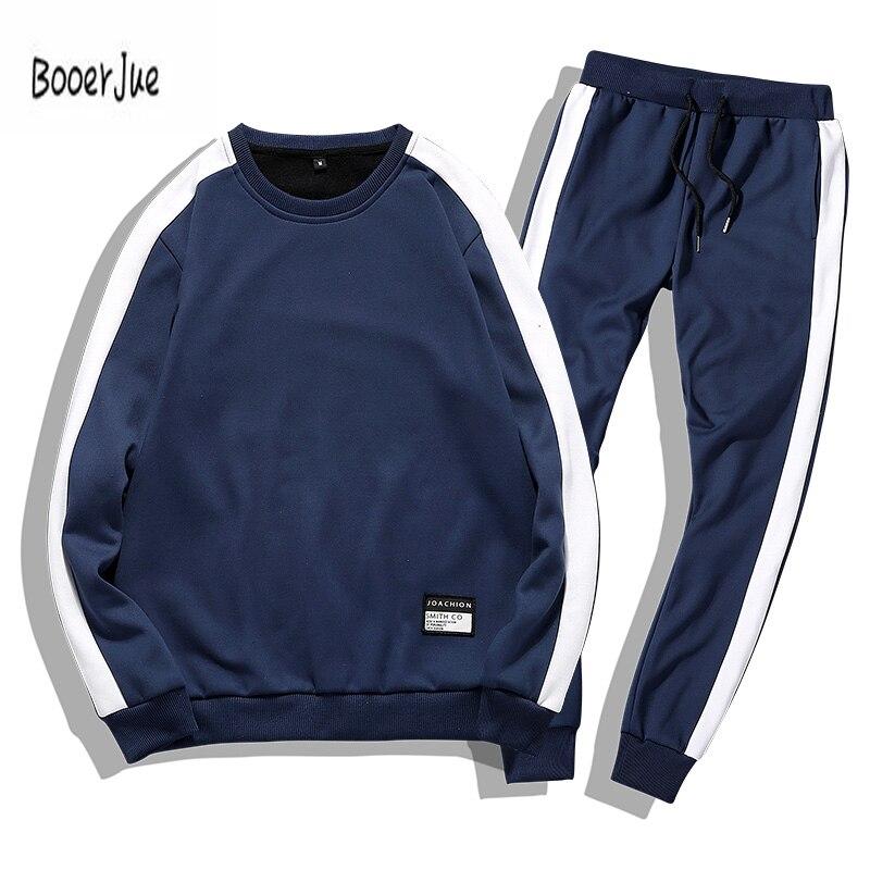 Männer Trainingsanzüge 2 stück Outwear Sportsuit Sets Männlichen Sweatshirts Strickjacke Männer Set Kleidung + Hosen Plus Größe Moleton Masculino 2019