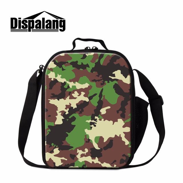 Dispalang moda estampado de camuflaje térmico bolsa de almuerzo bolsa de almuerzo nevera portátil con soporte para botellas contenedor aislado picnic bolsas