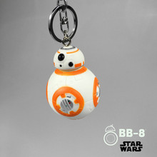 50PCS 2.2inch Star Wars The Force Awakens BB8 BB-8 R2D2 Droid Robot Action Figure stormtrooper Clone Trooper Strap New year toys