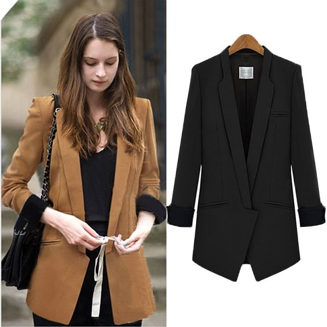 Popular Womens Black Fashion Blazer-Buy Cheap Womens Black Fashion ...