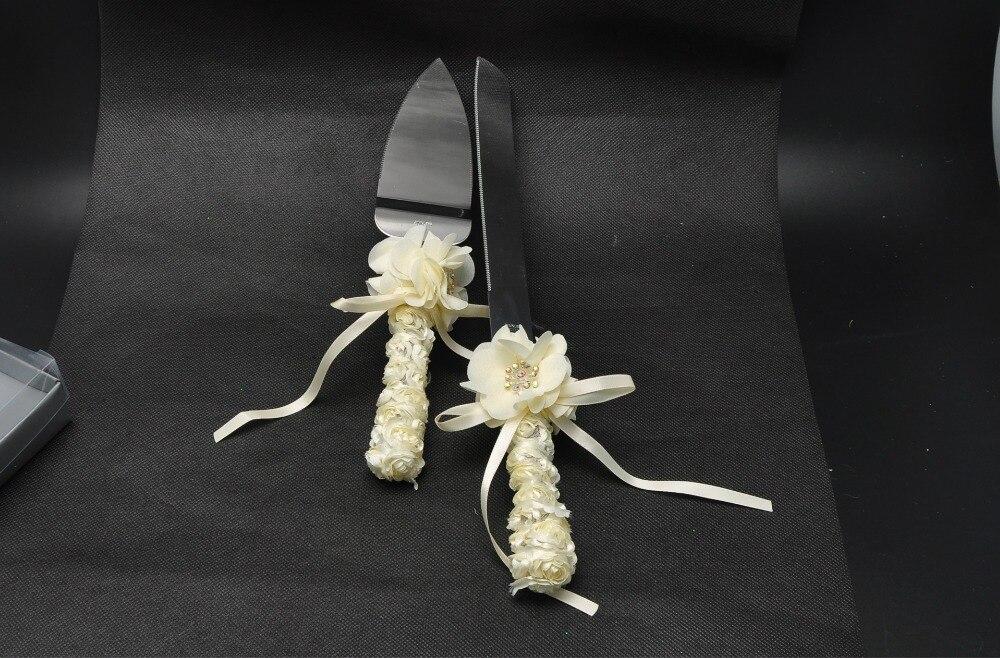 Festiva de la boda cuchillo y tenedor/cuchillo de la torta de cumpleaños/de la t