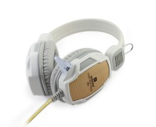 New QL-A6 Stereo Gaming Headset Wired Headphone Headband Earphone with Mic Volume Control for Computer Free ship